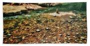 Rock Cairn At Buddha Beach - Sedona Beach Towel