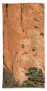 Rock Climbers  Beach Towel