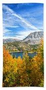Rock Creek Lake Fall Panorama Beach Towel