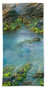 Rock Formations In The Sea, Bird Rock Beach Towel