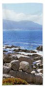 Rock Formations On The Coast, 17-mile Beach Towel