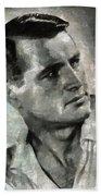 Rock Hudson Hollywood Actor Beach Towel