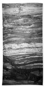 Rock Lines B W Beach Towel