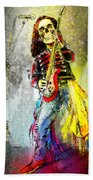 Rock N Roll The Bones Beach Towel