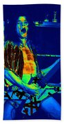Rock 'n' Roll The Cosmic Blues Beach Towel