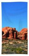 Rock Pillar Sandstone Hoodoos Arces National Park Beach Towel