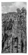 Rock Side Bw #g8 Beach Towel