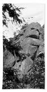 Rock Spirits At Yosemite B And W Beach Towel