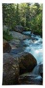 Rock Stack Falls Beach Towel
