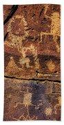 Rock Wall Of Petroglyphs Beach Sheet