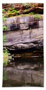 Rock Wall Reflections Beach Towel