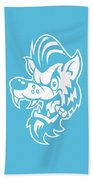 Rockabilly Wolf Head Beach Towel