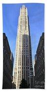 Rockefeller Center New York City Beach Towel
