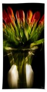Rocket Propelled Tulips Beach Towel