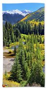 Rockies And Aspens - Colorful Colorado - Telluride Beach Sheet