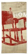 Rocking Chair Home- Art By Linda Woods Beach Towel