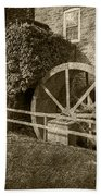 Rockland Grist Mill - Sepia Beach Towel