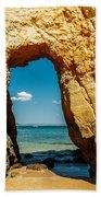 Rocks And Ocean Landscape In Lagos, Wall Art Print, Landscape Art, Poster Decor, Printable Photo Beach Towel