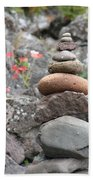 Rocks And Roses Beach Towel