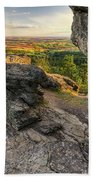 Rocks Of Sharon Overlook Beach Towel