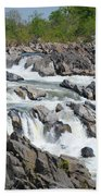 Rocks Of The Potomac Beach Towel