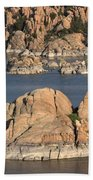 Rocks Of Watson Lake  Beach Towel