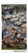 Rocks On The Brandywine Beach Towel