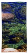 Rocks Ripples And Reflections Beach Towel