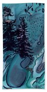 Rocksntrees Abstract Beach Towel