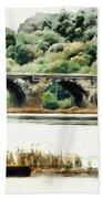 Rockville Bridge On The Susquehanna River Beach Towel