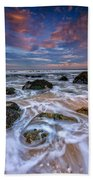 Rocky Beach At Sandy Hook Beach Towel