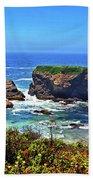 Rocky California Coast 006 Beach Towel