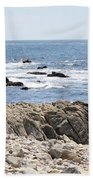 Rocky California Coastline Beach Towel