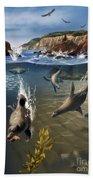 Rocky California Shore Beach Towel
