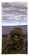 Rocky Cove In Sydney British Columbia Beach Towel