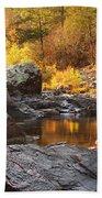 Rocky Creek II On Mill Mountain In The Missouri Ozarks Beach Towel