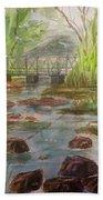 Rocky Creek In The Catskills  Beach Towel