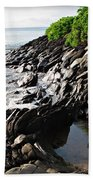 Rocky Maui Coast Beach Towel