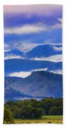 Rocky Mountain Cloud Layers Beach Towel