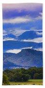 Rocky Mountain Cloud Layers Beach Sheet