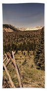 Rocky Mountain National Park Vintage Beach Towel