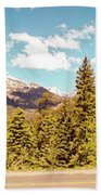 Rocky Mountain Panorama Beach Towel