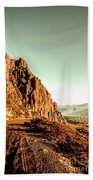 Rocky Mountain Route Beach Towel