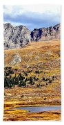 Rocky Mountain Tundra And Lake Beach Towel