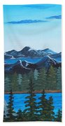 Rocky Mountain View Beach Towel