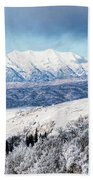 Rocky Mountain Winter Beach Towel