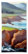 Rocky Point Afternoon Big Sur Beach Towel
