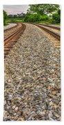 Rocky Railroad Rails Beach Towel