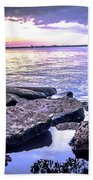 Rocky River Shore Beach Towel