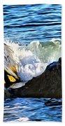 Rocky Shore 1 Beach Towel